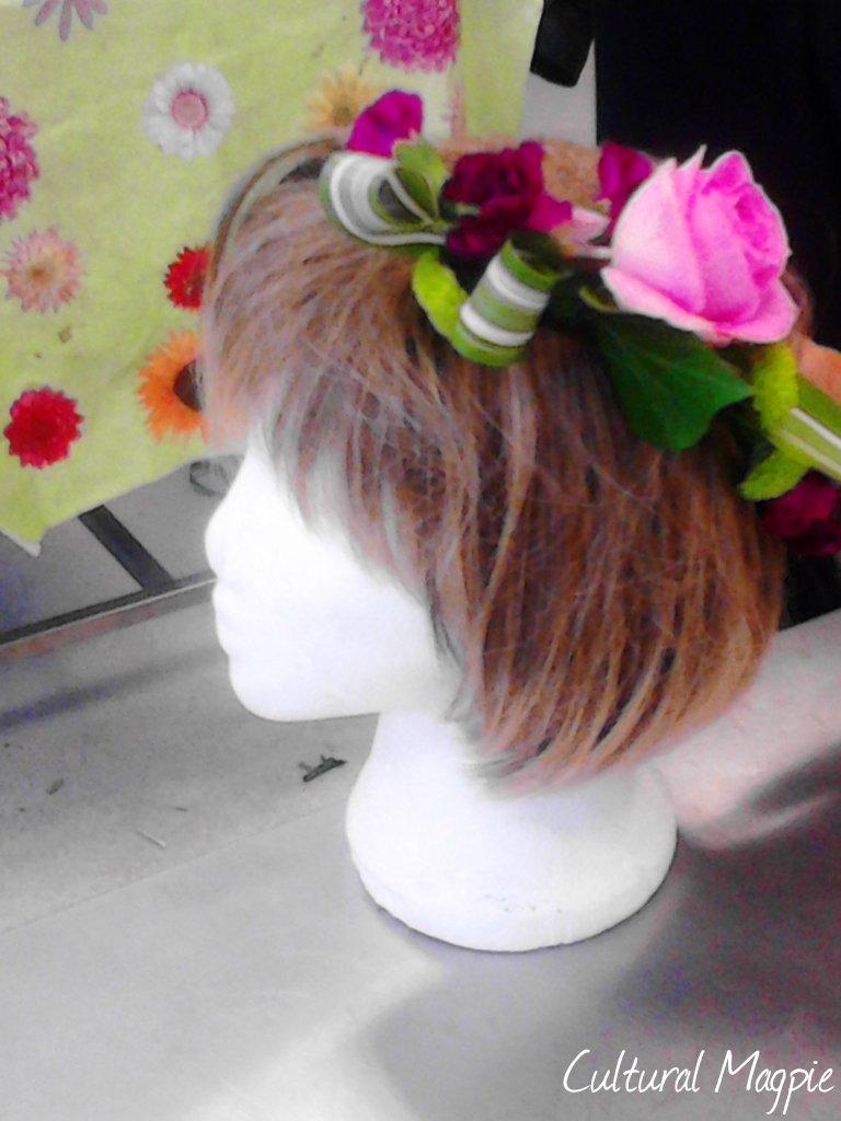 cultural magpie head dress